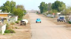 Wide Shot Street- Bombay Beach, CA Stock Footage
