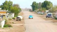 Stock Video Footage of Wide Shot Street- Bombay Beach, CA