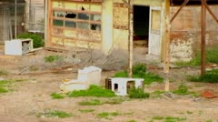 Trailer Park Bombay Beach, CA Images 3 Stock Footage