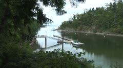 WorldClips-Vancouver Island Cove-pan Stock Footage