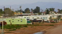 Trailer Park Bombay Beach, CA Images 6 Stock Footage