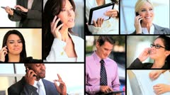 Montage of Ambitious Young Business People & Technology Stock Footage