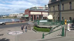 WorldClips-Victoria Harbour-Bastion Square Stock Footage