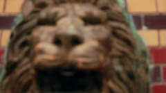 Lion's head fountain Stock Footage