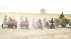 Tractor ride 1 Stock Footage