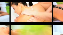 Montage of Luxury Female Spa Treatment Stock Footage