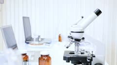 Modern Medical Laboratory and Equipment Stock Footage
