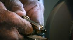 Hands working Stock Footage
