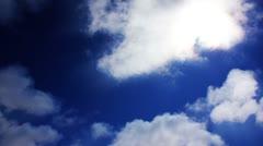 Timelapse Heavenly Sky Clouds 57 Loop Stock Footage