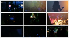 Dance club. Sequence Stock Footage
