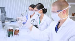 Medical Researchers Working in Hospital Laboratory - stock footage