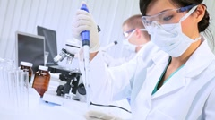 Medical and Scientific Researchers in Lab - stock footage