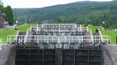 Caledonian Canal Locks Stock Footage