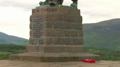 Commando Memorial Stock Footage