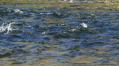 Flowing water and wave Stock Footage