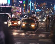 Night Street Time Lapse 2 - stock footage