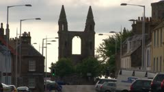 St Andrews Cathedral Ruins Stock Footage