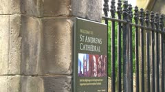 Ruins of St Andrews Cathedral Stock Footage