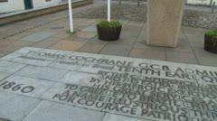 Thomas Cochrane Monument Stock Footage