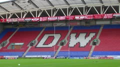 DW Stadium and Pitch Stock Footage