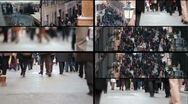 People walking in the street - Slowmotion Stock Footage