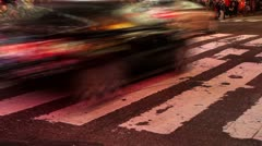 City Crosswalk Time Lapse - stock footage