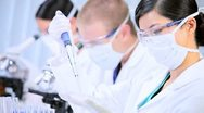 Research Assistants in Medical Laboratory Stock Footage