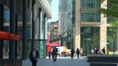 Spinningfields Stock Footage