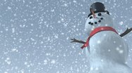 Stock Video Footage of looping happy snowman in the snow