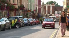 Glastonbury High Street Stock Footage