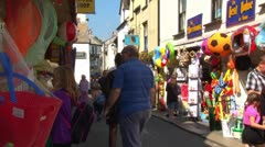 Looe Beach Shops Stock Footage