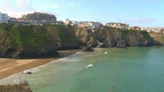 Newquay Beach Stock Footage