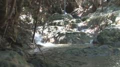Cyprus, Trimiklini village, Green Valley waterfall Stock Footage