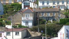 Perranporth Houses Stock Footage