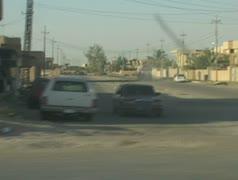 Views of war torn city Stock Footage