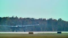 Stunt vintage war plane 03 Stock Footage