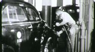 BLACK MAN African American Worker Washes Car 1940s Vintage Film Home Movie 1185 Stock Footage