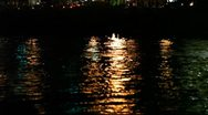 Stock Video Footage of MVI 9165 City Lights reflect in Hudson with Traffic