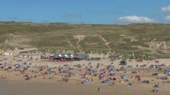 Wide English Beach Stock Footage