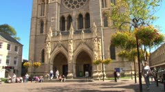 Truro Cathedral Front Stock Footage
