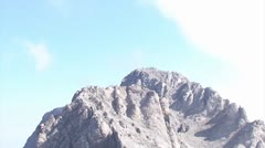 Climbers on the peak of the highest greek mountain of Olympus Stock Footage