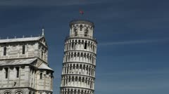 Stock Video Footage of Leaning Tower in Pisa, Tuscany, Central Italy, Tourists Attraction, UNESCO