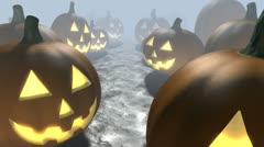 Happy Pumpkins - stock footage