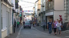 Falmouth Main Street Stock Footage