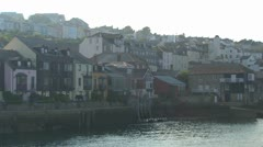 Falmouth Waterfront and Harbour Stock Footage