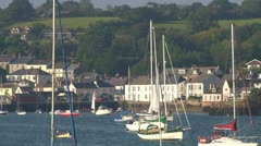 Sail Boats in Cornwall Stock Footage