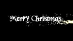 Merry Christmas 1 Stock Footage