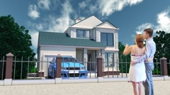 Building a house Stock Footage