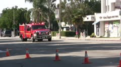 Fire Department Paramedics rush to scene - Pomona, CA - Nov 5, 2011 Stock Footage