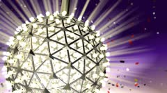 Looping New Years Eve Ball - stock footage